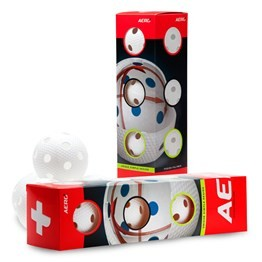 SALMING AERO PLUS FLOORBALL 4-PACK WHITE